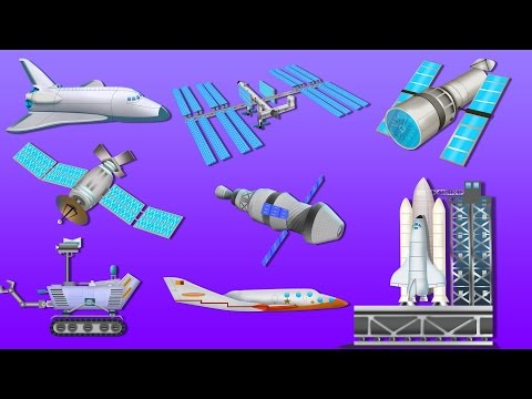 Space Vehicles | Outer Space | UFO | Astronauts | Kids Vehicles And Transport