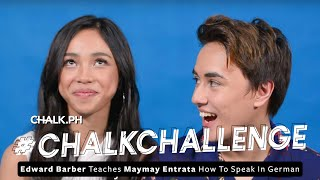 #ChalkLovesMayWard: Edward Barber Teaches Maymay Entrata How To Speak In German!
