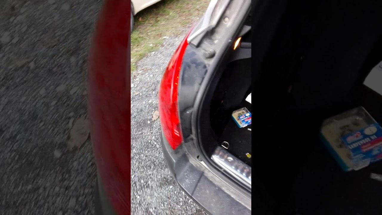 Peugeot 308 Sw Rear Light Disassembly Wymiana żarówki Tylniej