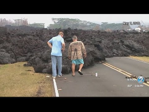 Portion of Highway 132 shut down, reports of Pele's hair falling in Pahoa