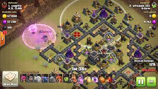 2018 Clash of Clans. TH9 war. X-spin. #43 - Falcon with pekka.