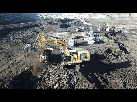 Caterpillar And Liebherr Excavators Working At Coal Mines - Sotiriadis/Labrianidis Mining