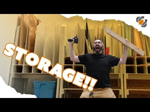 How to Build a Material Storage Shelf for Prop & Costume Making Supplies