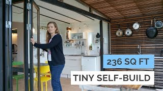 Family of 4 in 236 sq ft modern tiny house - Architects selfbuild tiny garden house