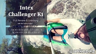 Intex Challenger K1 Review | Whitewater Test | Best inflatable Kayak for $70