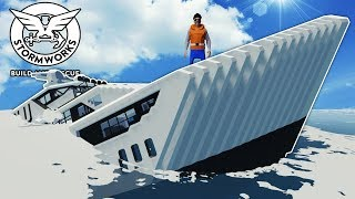 IDIOTS STEAL MONEY & SINK YACHT! - Stormworks Multiplayer Gameplay - Sinking Ship Survival