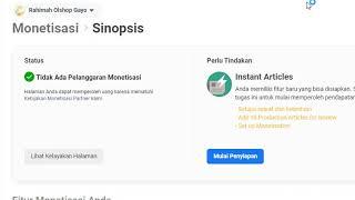 Download Monetisasi Instant Artikel Fanspage Facebook
