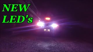 LED reverse light install and stock comparision