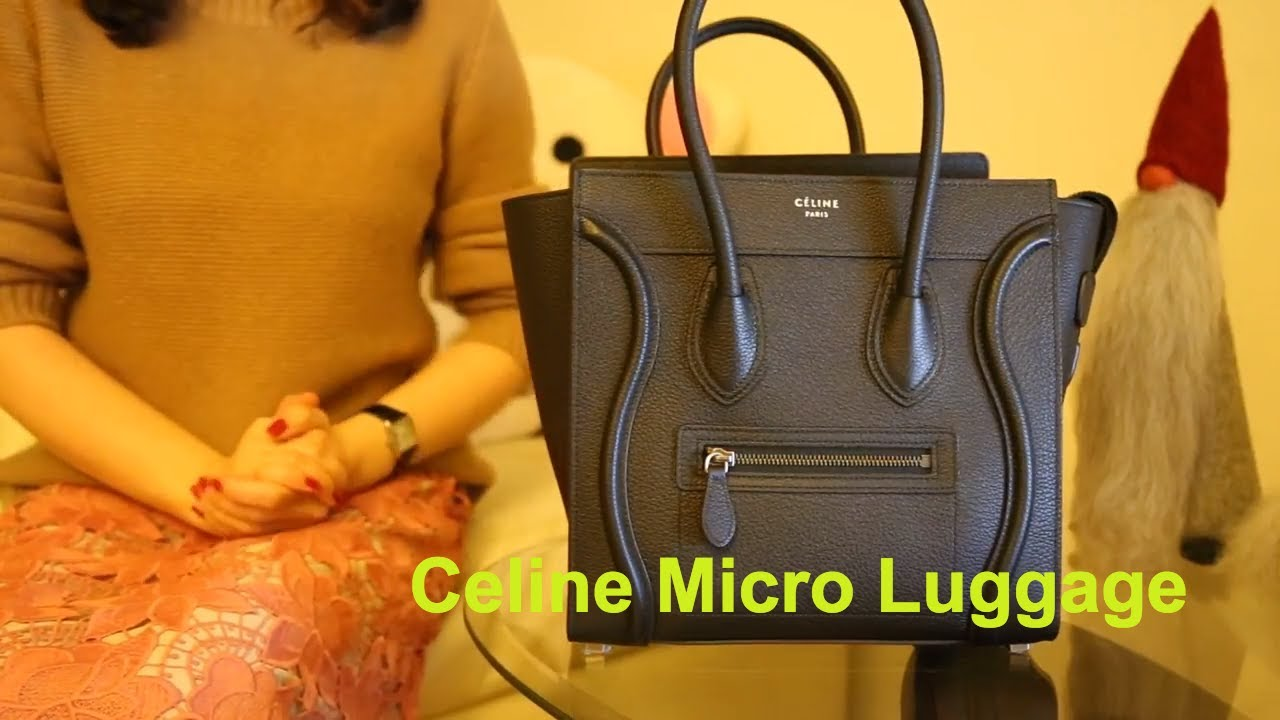 What s in My Bag 2018 l Celine Micro Luggage tote - YouTube 80c2ab309ac8e