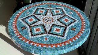 Video DIY Mosaic Garden Table | Design, Glue, Grout & Finish download MP3, 3GP, MP4, WEBM, AVI, FLV Oktober 2019