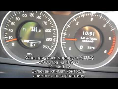 Расход топлива на Volvo s 60 D3 2013