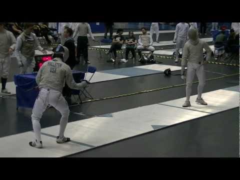 ND MCC Men Saber Gold Medal Match - Bout 38 - ND John Hallsten vs OSU Max Stearns 030313