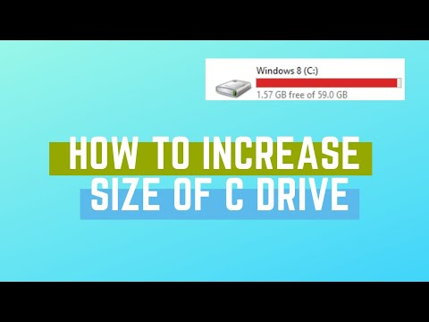 How To Increase The Size Of C Drive Without Losing Data -Windows 10/8.1/8/7 | 2019