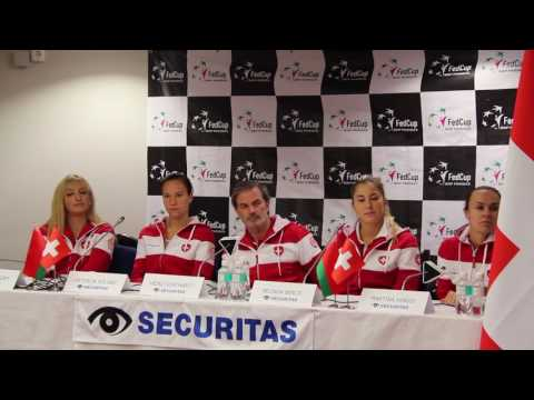 BLR-SUI: Pre draw press conference Securitas Swiss Fed Cup Team