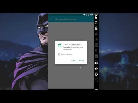 Runtime Permissions on Android Marshmallow