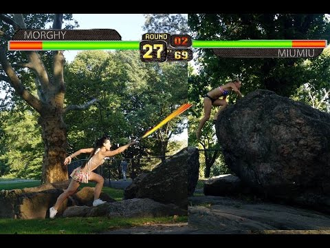 Sexy Bikini Girls Fight in a Real Life Video Game Round 1 ...