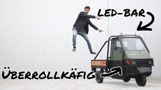 ÜBERROLKÄFIG mit LED-BAR für die OFFROAD-APE?! | mathisox
