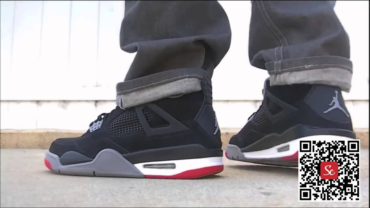 712020121d7aa7 ... Solecool App - Air Jordan Retro 4 IV Bred Cement Review On Feet -  YouTube ...