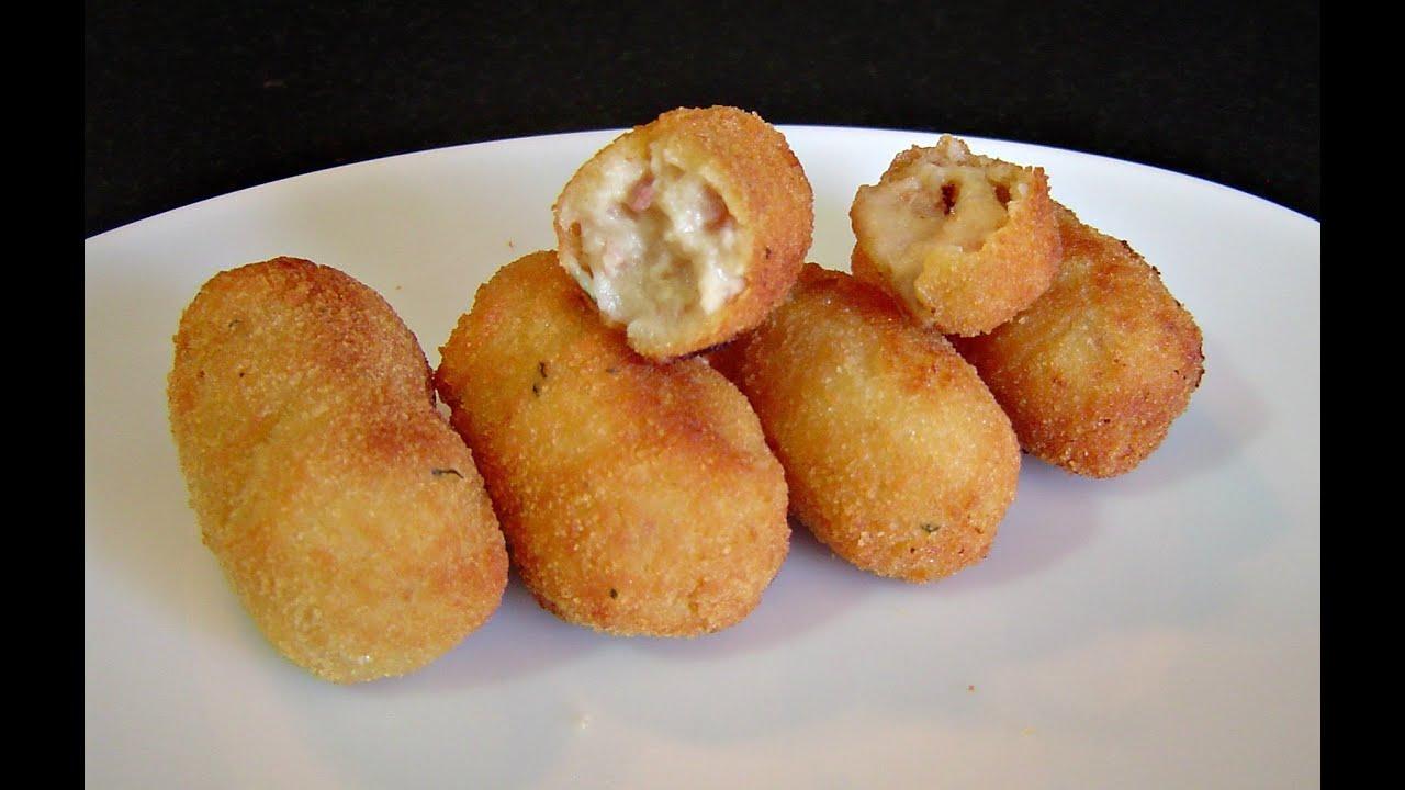 croquetas caseras de jam n y pollo cocina f cil youtube