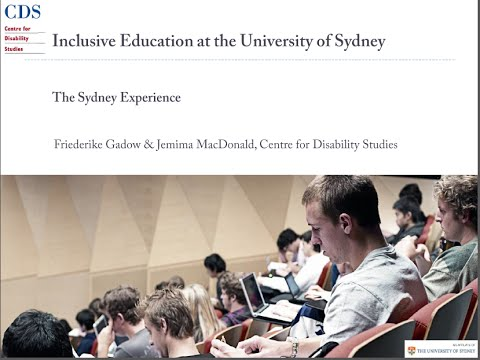 Inclusive Education: Tertiary Education for People with Intellectual Disability
