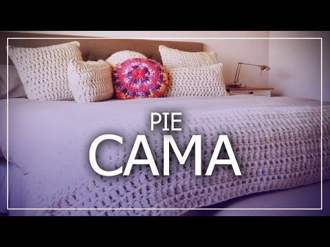 Pie de cama tejido a crochet decoraci n moda for Pie de cama xxl