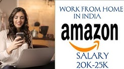 Work from home Jobs !! Earn money from Amazon !! Jobs in Delhi ncr for girls !!  20k- 25 monthly