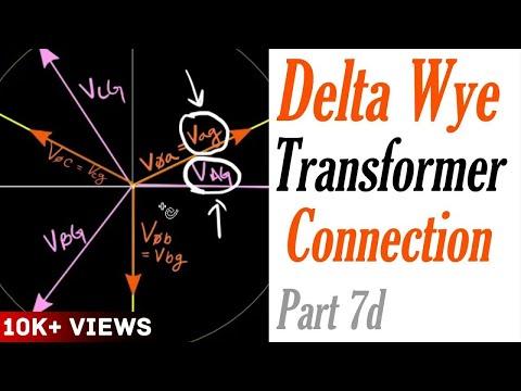 delta wye transformer hook up
