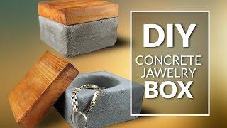 DIY  concrete jawelry box