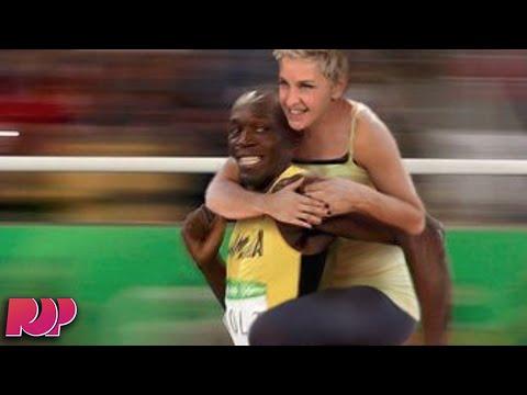 Ellen Degeneres Posts A RACIST Meme About Usain Bolt!?
