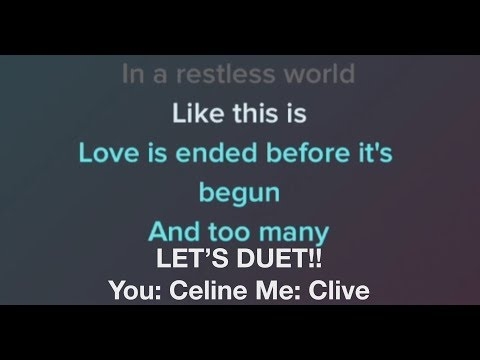 When I Fall In Love Celine Dion Karaoke Male Part Only