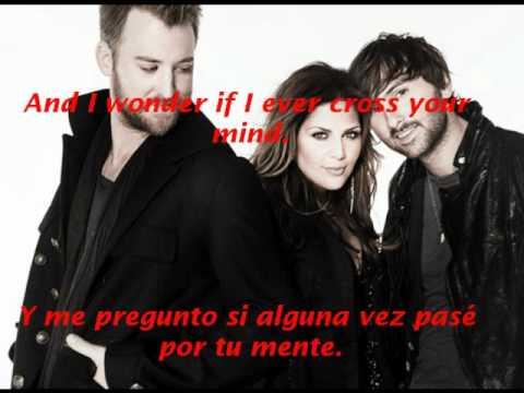 Lady Antebellum-Need You Now Lyrics English/Spanish