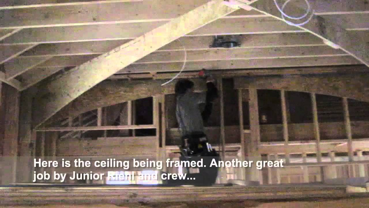 How To Create A Vaulted Ceiling - YouTube