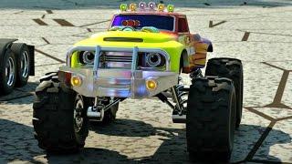 Мультфильм про машинки и паровозики. Парк аттракционов