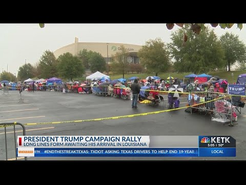 Trump's Bossier City Rally Draws Long Lines
