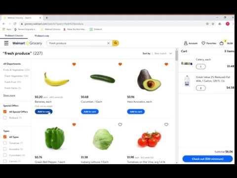 Order Groceries Online Through Walmart Or Smith's