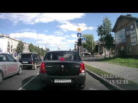 Видеорегистратор Texet DVR 500HD дневная съемка