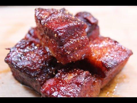 Pork Belly Burnt End's on the Weber Preformer  How To