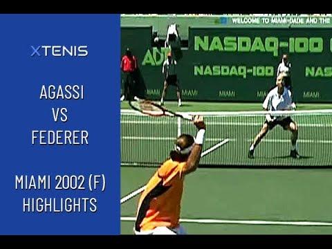 Andre Agassi Vs Roger Federer - ATP Miami 2002 (FINAL) Highlights
