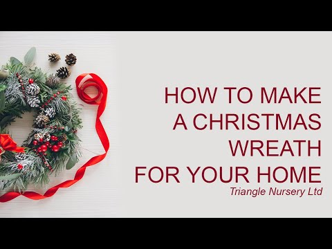 DIY How to Make a Christmas Wreath
