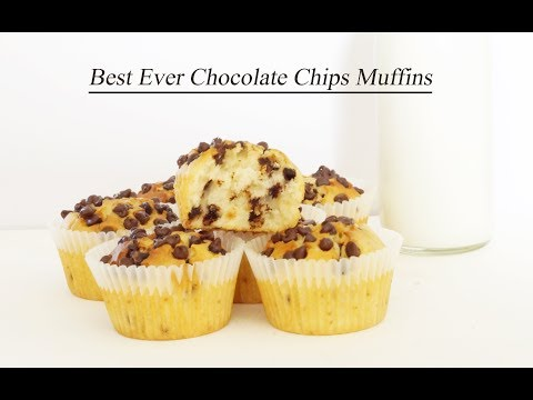 Best ever Chocolate Chips Muffins - Quick and Easy Muffin Recipe