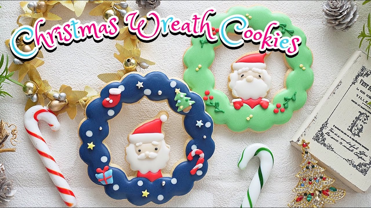 【クリスマス】クリスマスリースクッキーの作り方 ~Christmas wreath Cookies~|The Cookie Cutter Land