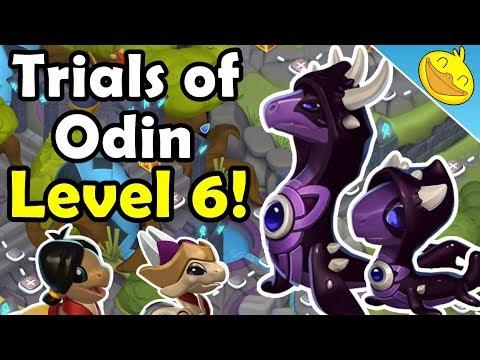 HEL DRAGON UNLOCKING! Trials of Odin LEVEL 6! - DML #981