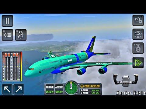 Flight Sim 2018 #45 - Airplane Simulator - Flight to Paris - New Airplane - Android Gameplay