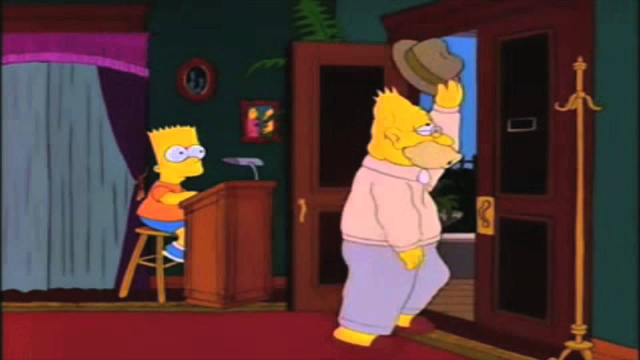 Grandpa Simpson walking in and out  YouTube