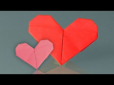 Papercraft Learn origami, how to make a paper heart