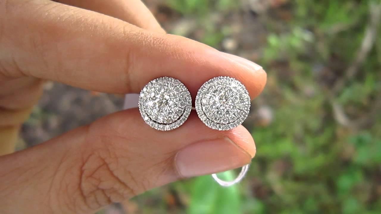 3 Carat Face Illusion Detachable Earrings Hkg Setting