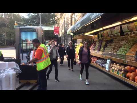 Fairway Market Uses Public Sidewalk as Free Storage