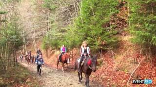 видео Катание на лошадях в Карпатах.