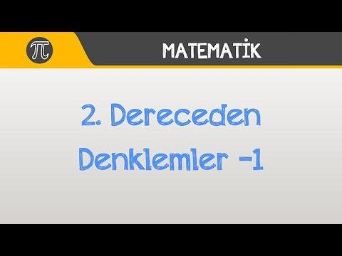 2. Dereceden Denklemler -1 | Matematik | Hocalara Geldik