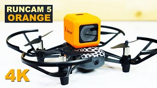 RUNCAM 5 ORANGE - 4K Action Camera that fits on the RYZE Tello